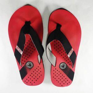 🌵Body Glove Foam Soled Red & Black Flip Flops 11